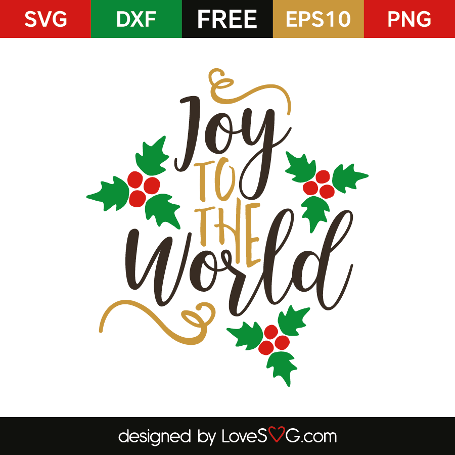 Download Joy to the World | Vinyl - Christmas | Svg files for ...