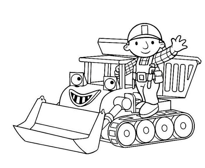 Bob With Muck The Bulldozer Coloring Pages | Kids Birthdays ...