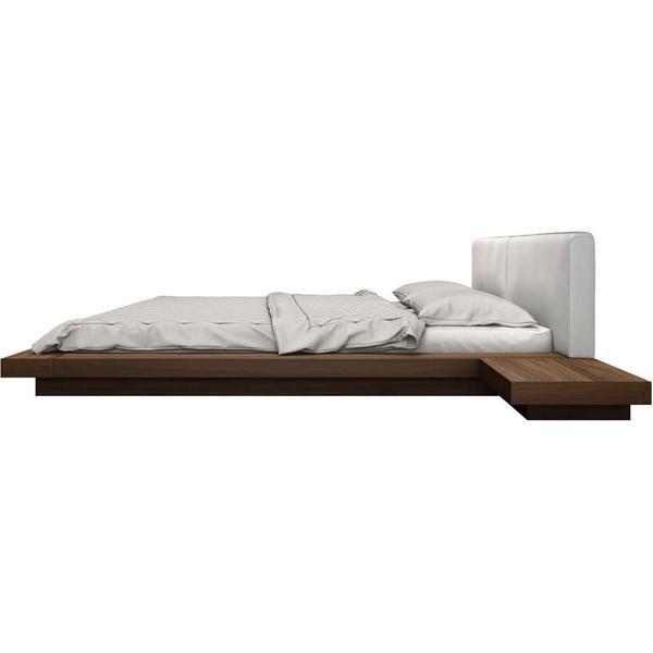 worth bed walnut white dream room house upholstered platform bed rh pinterest com
