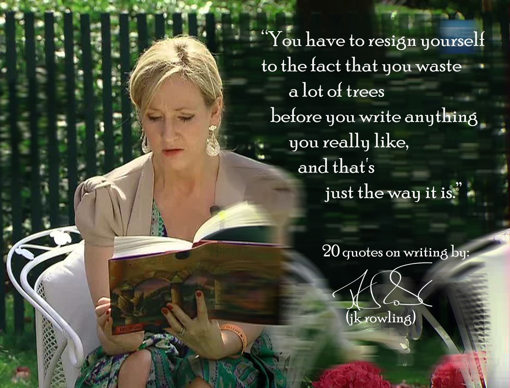 inspirational. j.k. rowling's 20 quotes on writing #nanowrimo