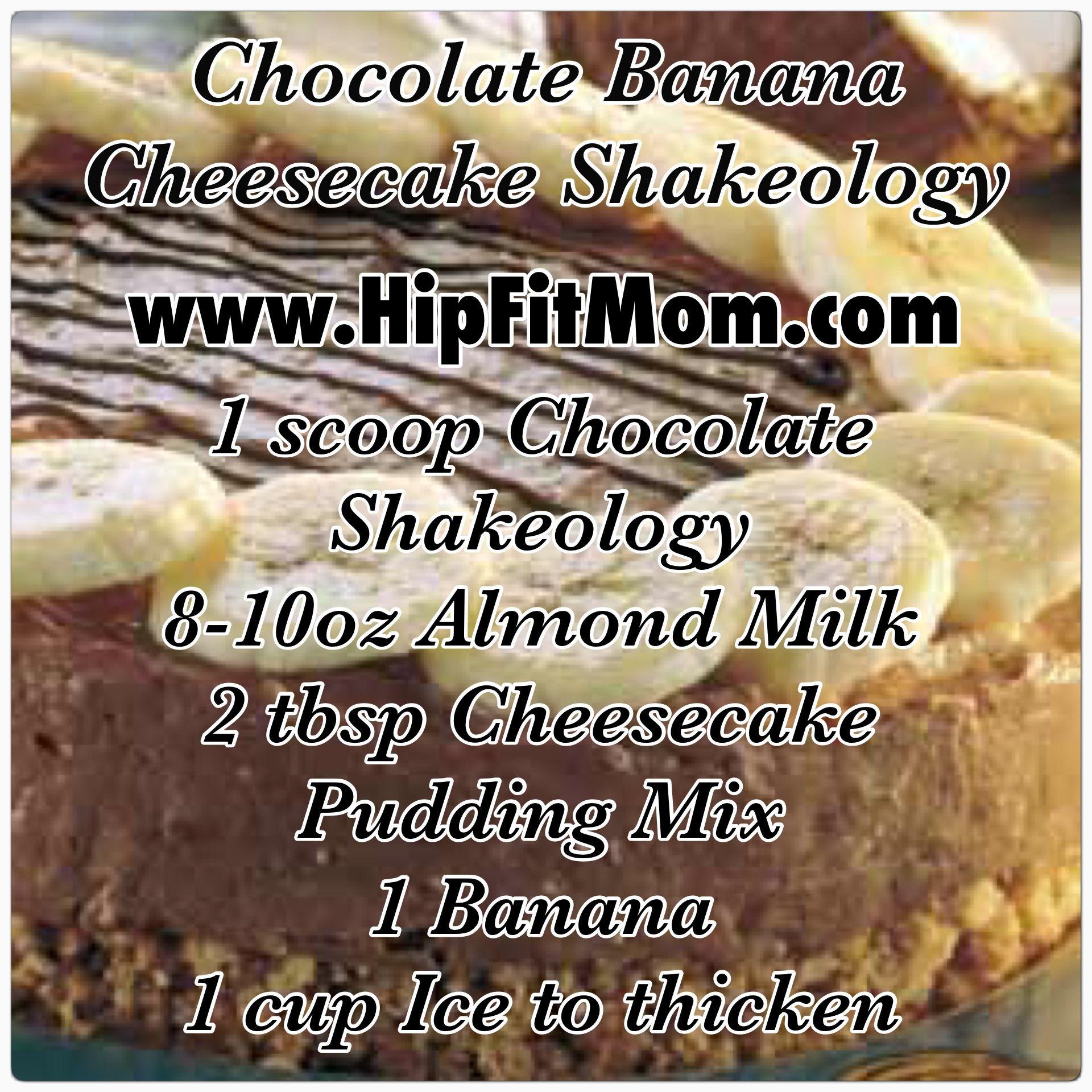 Chocolate Banana Cheesecake Shakeology Recipe www.HipFitMom.com