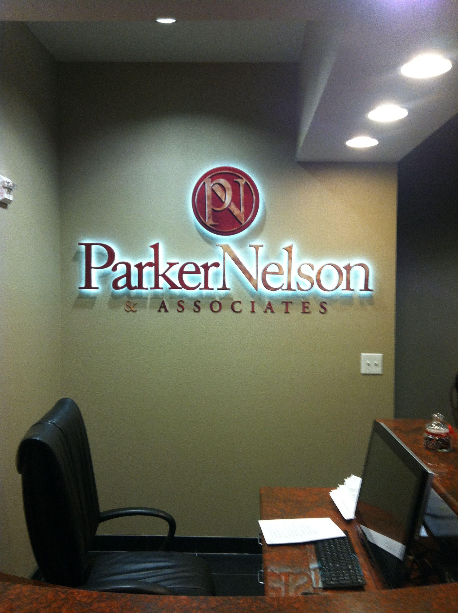 Parker Nelson Custom Reverse Channel Letter Sign
