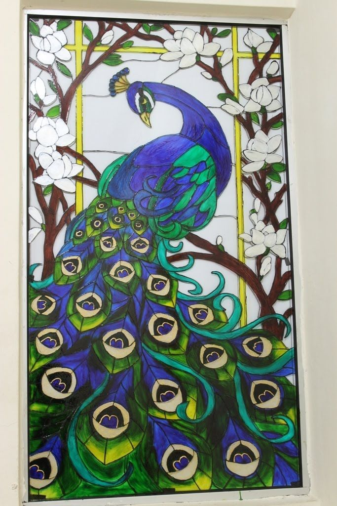 Glass Painting Design Of Peacock Google Search Classic Designers