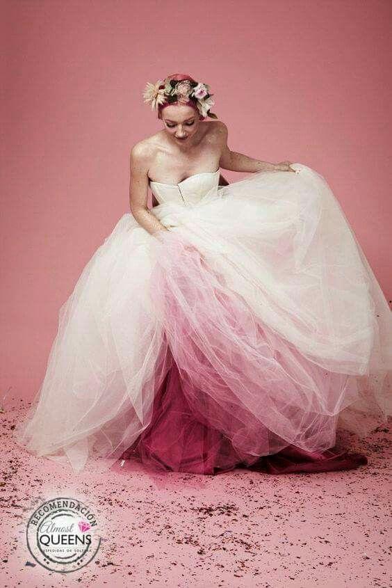 Pin By Lynn Sketchley On Bride Dip Dye Wedding Dress Dye Wedding Dress Non White Wedding Dresses