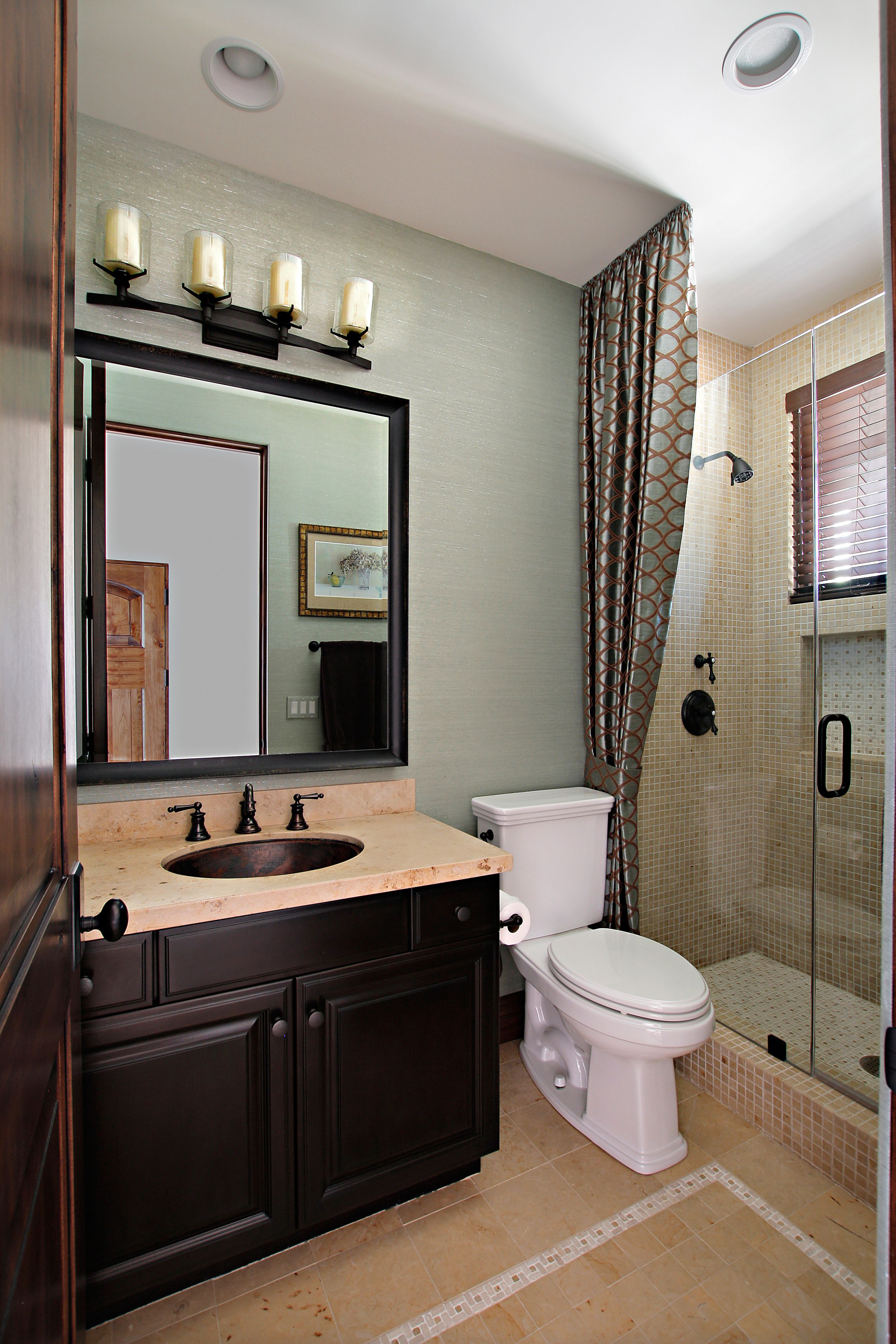 bathroom - Judy's Custom Workroom | Guest bathroom small ...