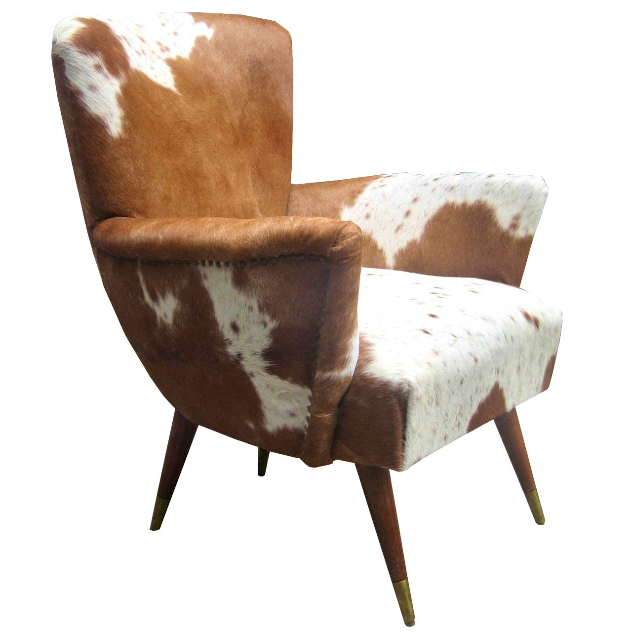 Furniturecharming Pair Of Modernist Italian Cowhide Chairs At
