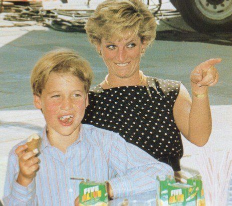 Diana and William in an unguarded moment