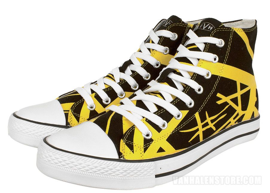 07ee9f42aa2f32 Check out the deal on EVH Yellow High Top Sneakers at Van Halen Store