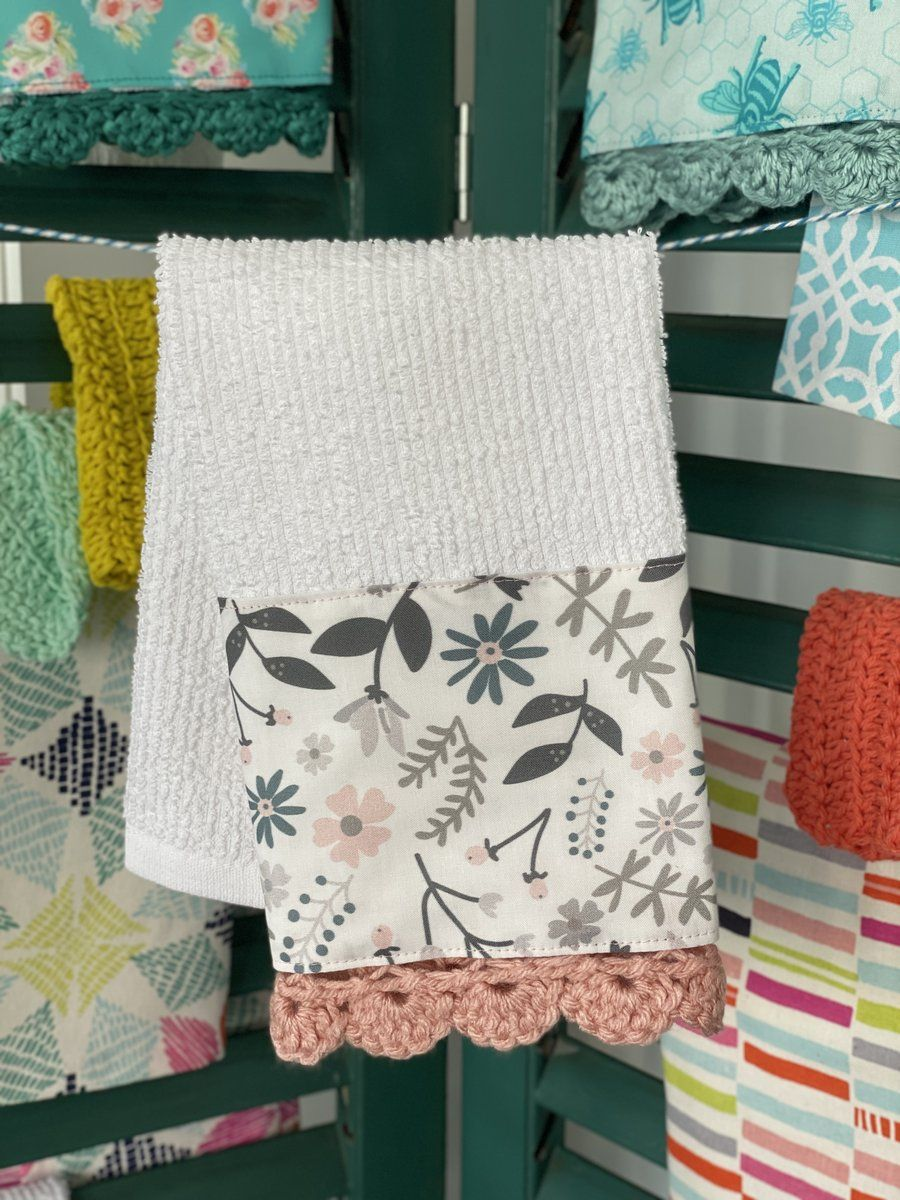 Farmhouse Flowers Crochet Kitchen Towel – The Vintage Home Studio