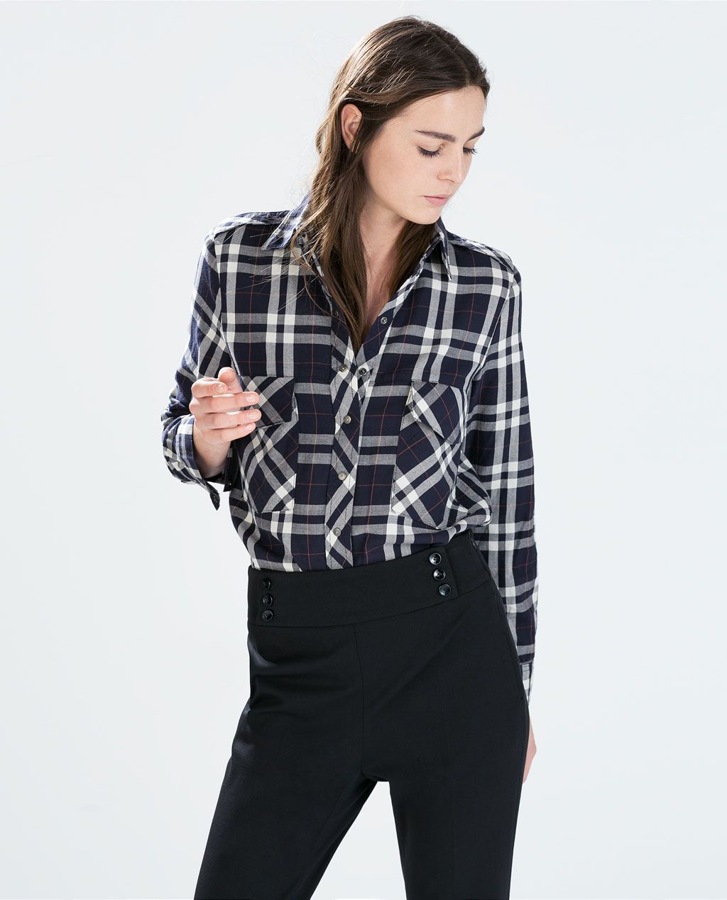 Uniqlo flannel jacket  ZARA  WOMAN  CHECKED SHIRT  CHECK IN  Pinterest  Checked shirts