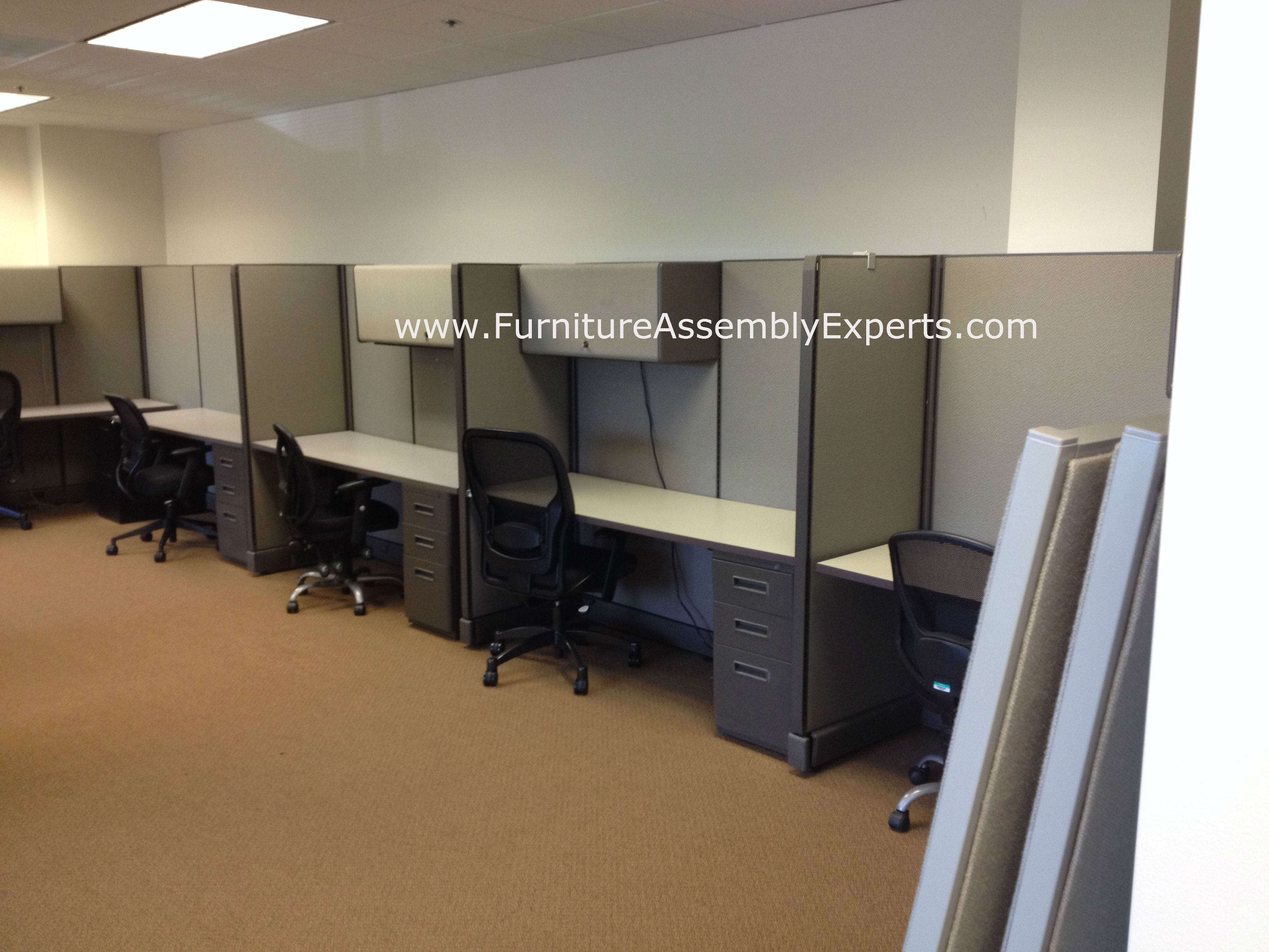 Used Office Cubicles Assembled And Reconfigured In Springfield Va By