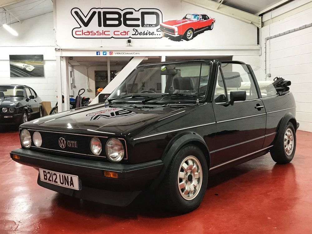 vw golf gti mk1 convertible 1985 immaculate original with low rh pinterest com