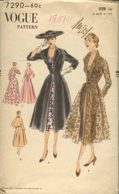 Vogue 7290 | Mode 50 - 60 Jahre | Pinterest | Mode, Kleider und Mode ...