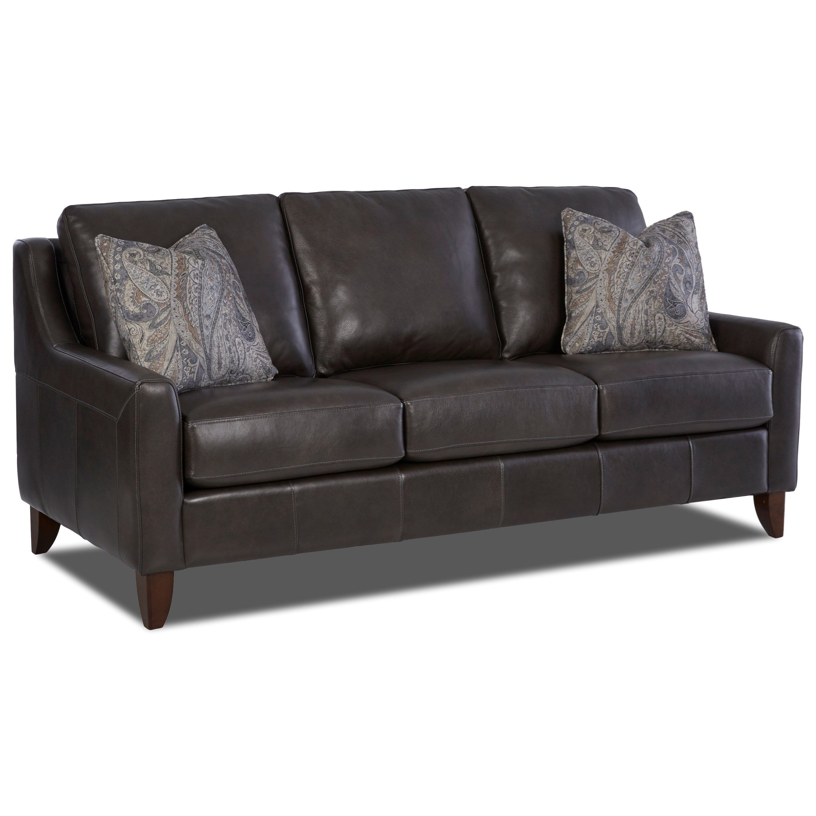 belton belton leather sofa w pillows by klaussner model home rh pinterest com