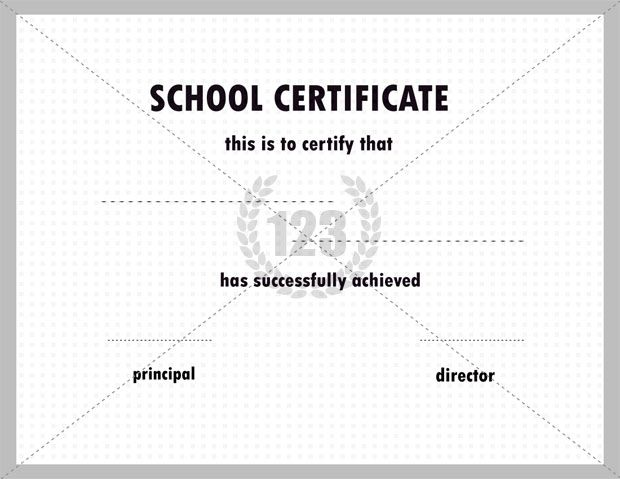 Quality School certificate Templates for Free and Premium