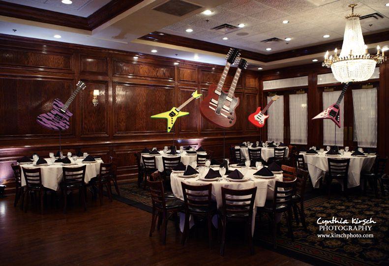 Guitar theme bar mitzvah.