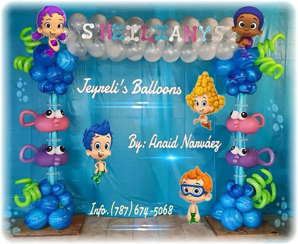 Balloon arch bolloon ideas pinterest bubble guppies for Diy decoracion cumpleanos