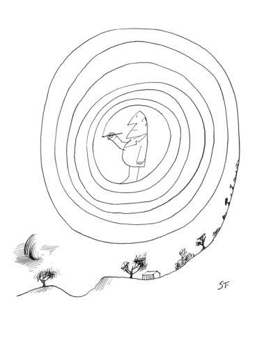 Saul Steinberg, February 23, 1963, New Yorker