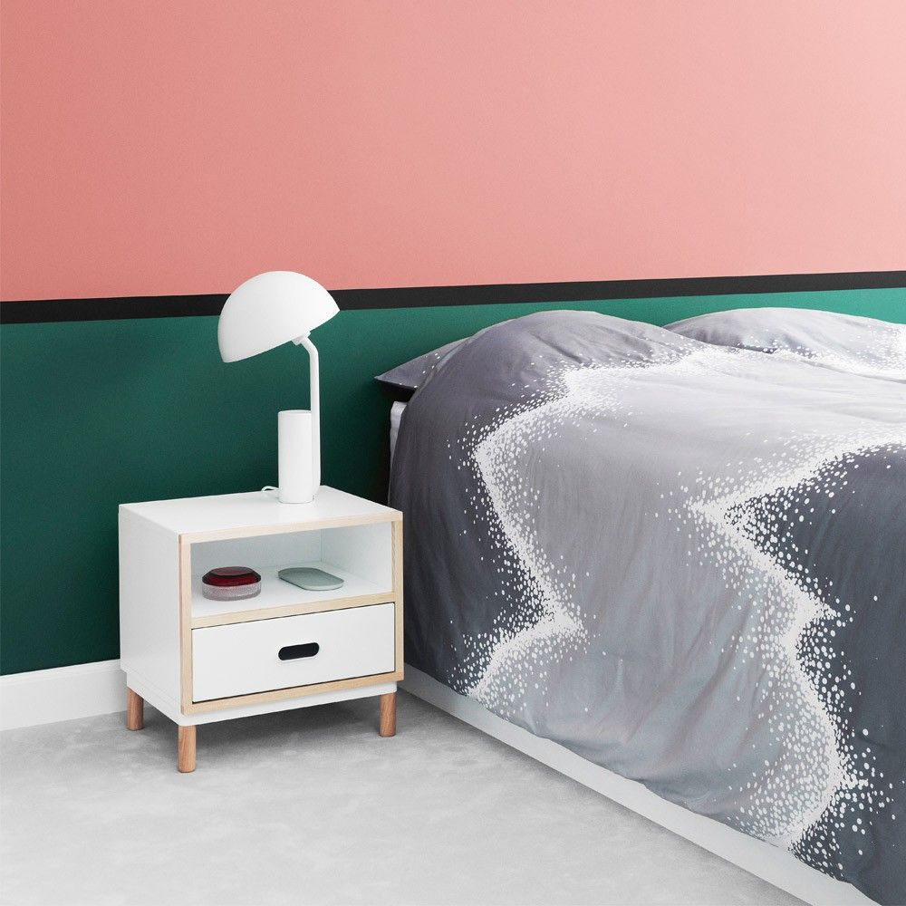 The milli glance wall basin mixer set is captivating from the first - Normann Copenhagen Kabino Bedside Table
