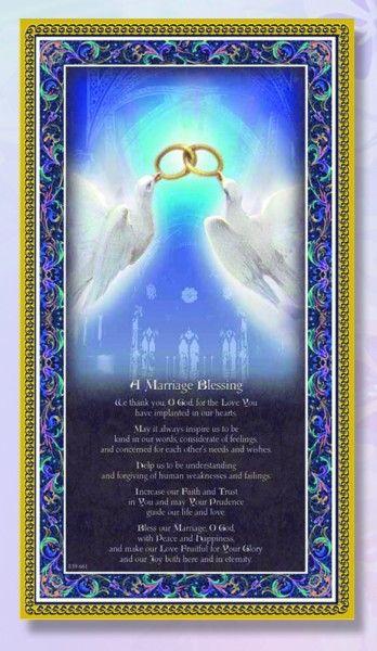 Marriage Blessing Italian Prayer Plaque