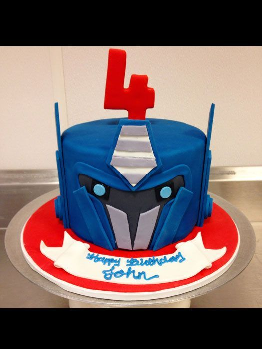 Transformer Cake Birthday Kid Cakes 4th Party Ideas Transformers Parties Religious Super Hero