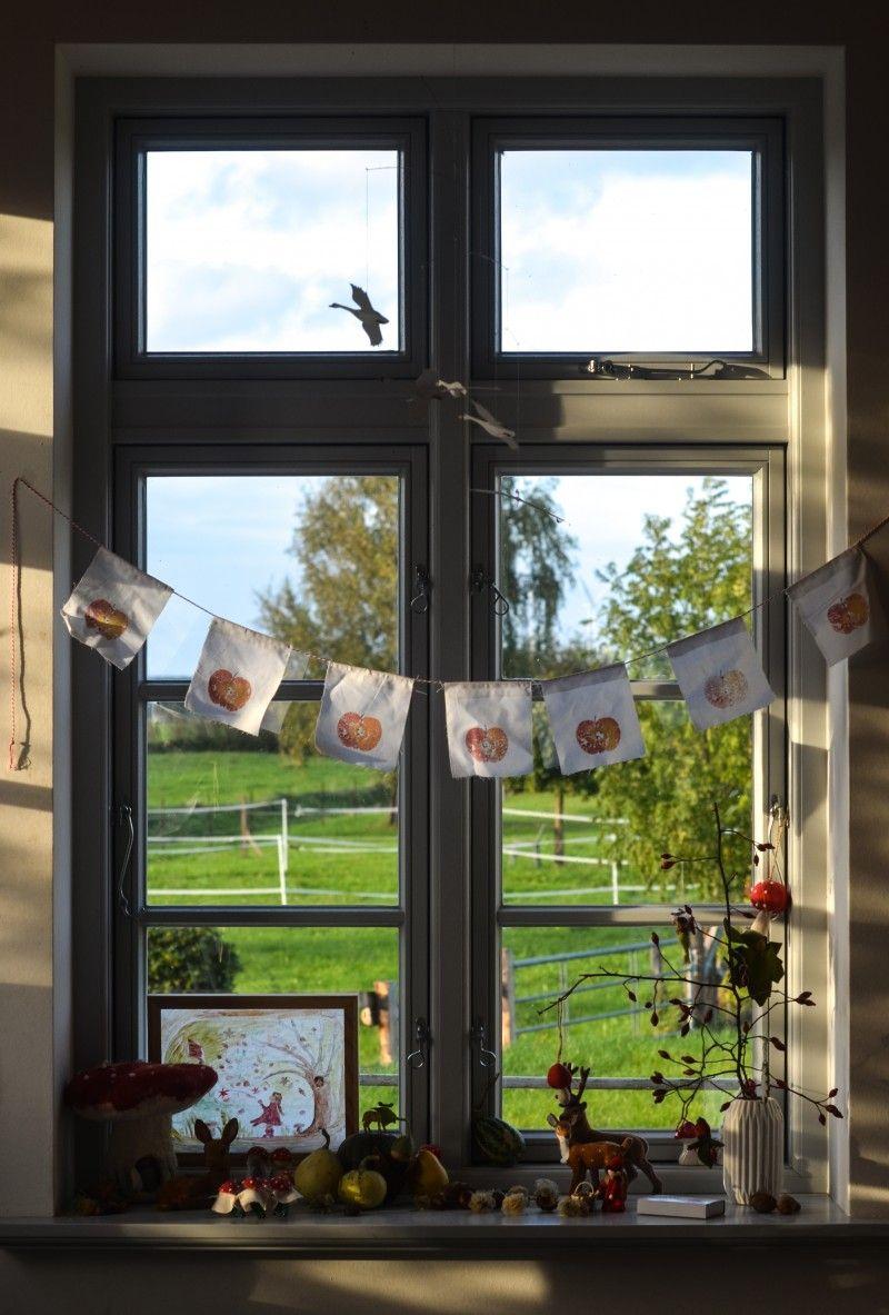 Photo of Unser Herbstfenster. Plus ein Herbstdruck für die sch