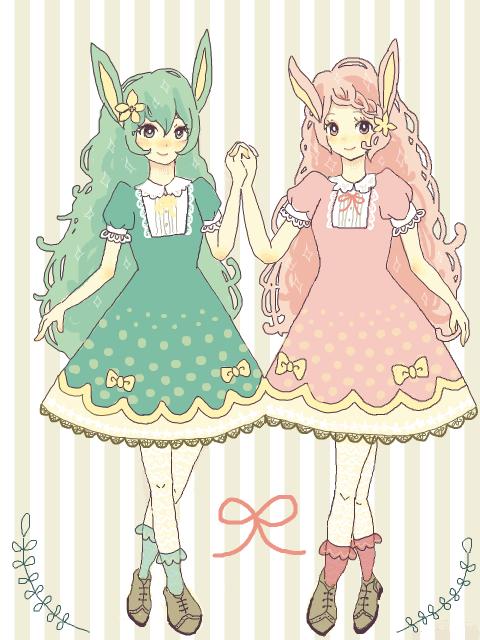 human version gijinka pokemon, deerling summer version, spring version