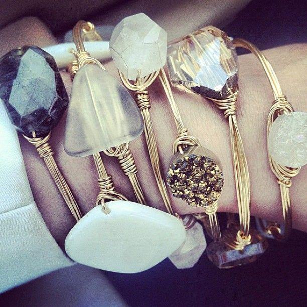 stone bangles.