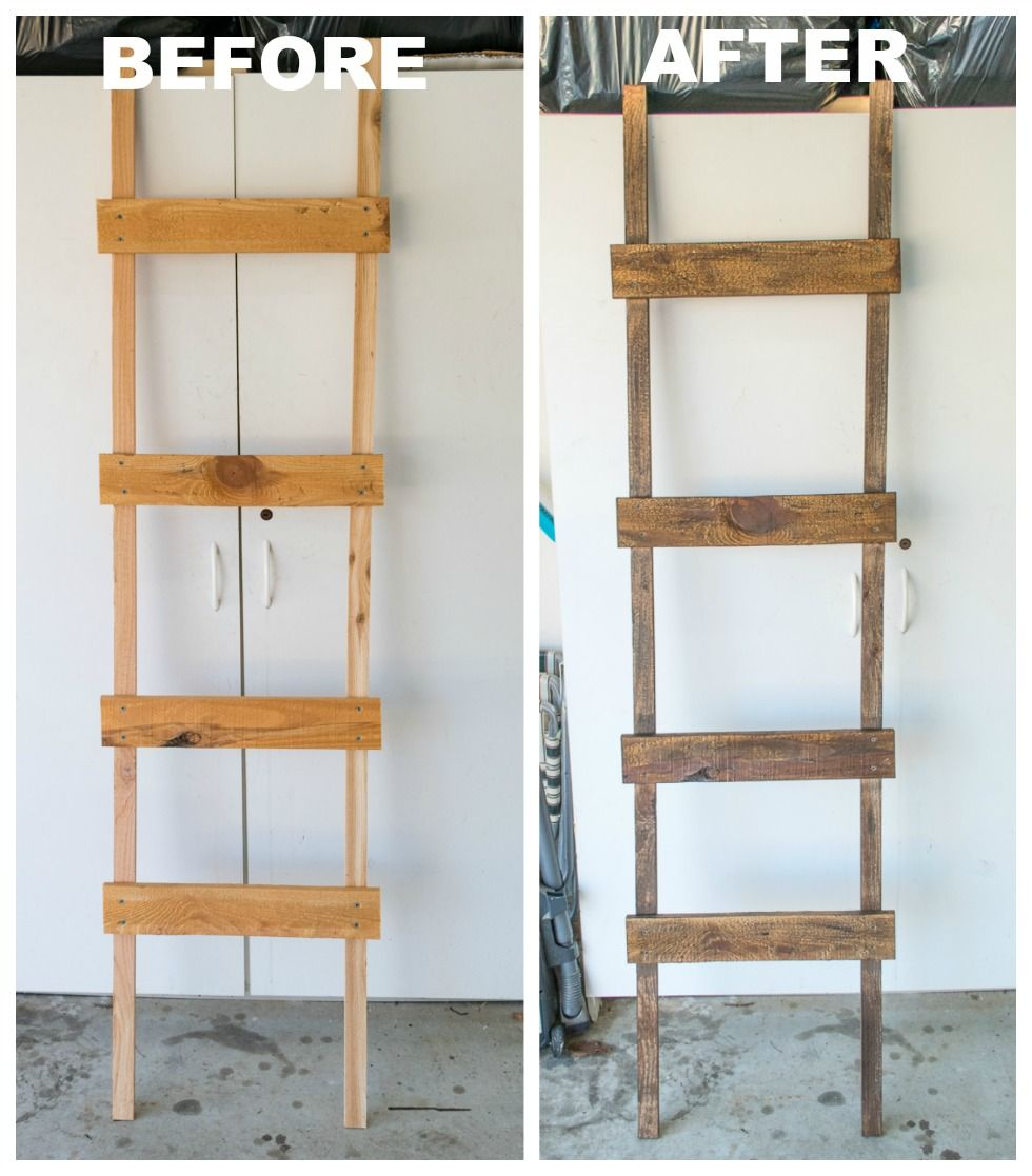 How To Make A Rustic Blanket Ladder For Under 20 Worthing Court Rustic Furniture Diy Rustic Blanket Ladder Rustic Blankets