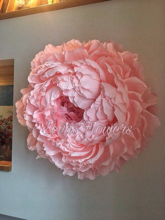 Große Krepp Papier blumen - riesige Papier Blumen Wand-Dekor - Riesige rosa Pfingstrose Blume - Riesige Crepe Papier Pfingstrose - Papier Blume