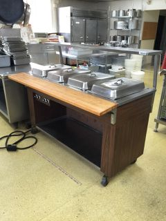catering equipment serving station on casters stainless steel and rh pinterest com