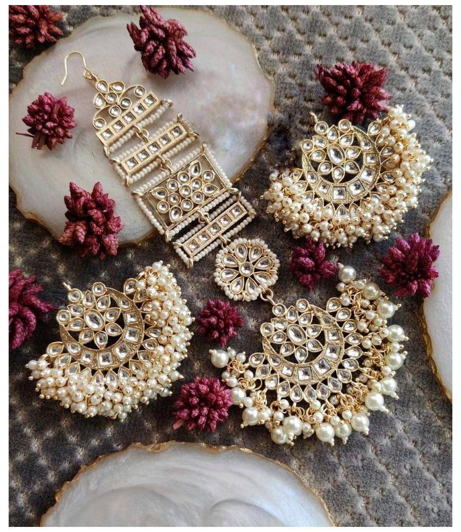 chandbali earrings antique beautiful
