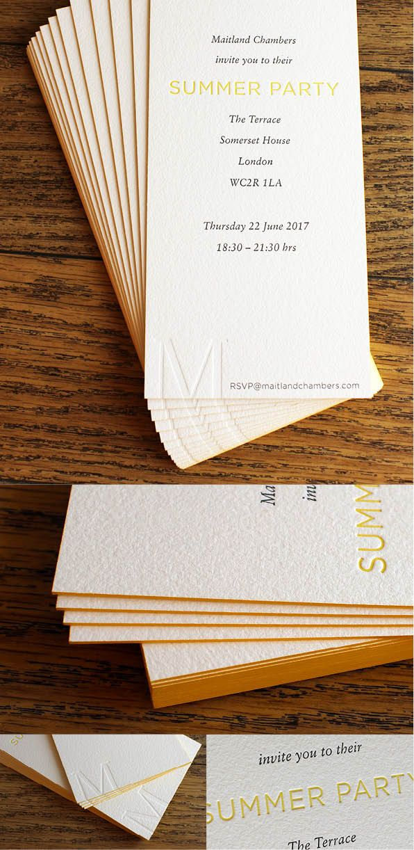 My favourite ever invitation 1200gsm textured duplex