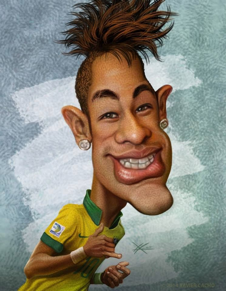 Image result for Neymar Satire cartoon