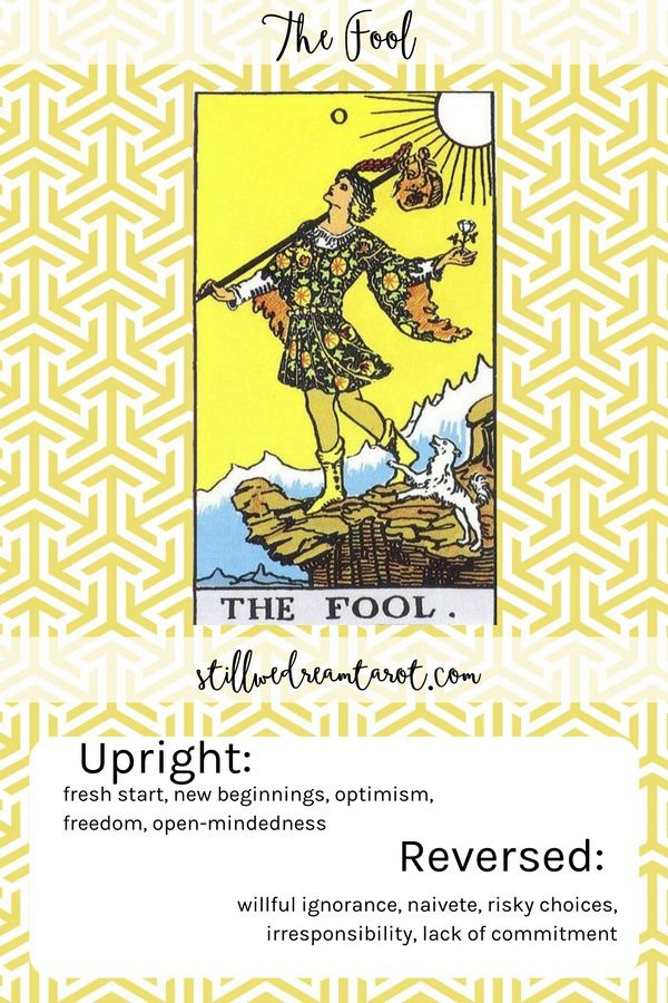 The Fool Tarot Card Meaning With Images Tarot Card Meanings