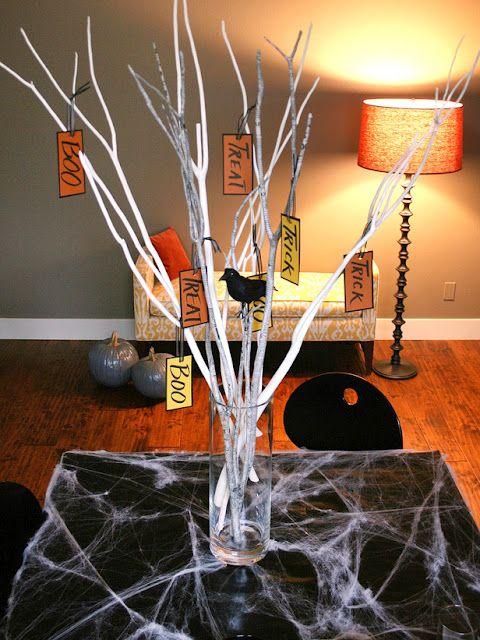 Easy Halloween Branch Centerpiece 2012 Ideas from HGTV 2013 - fun halloween decorating ideas