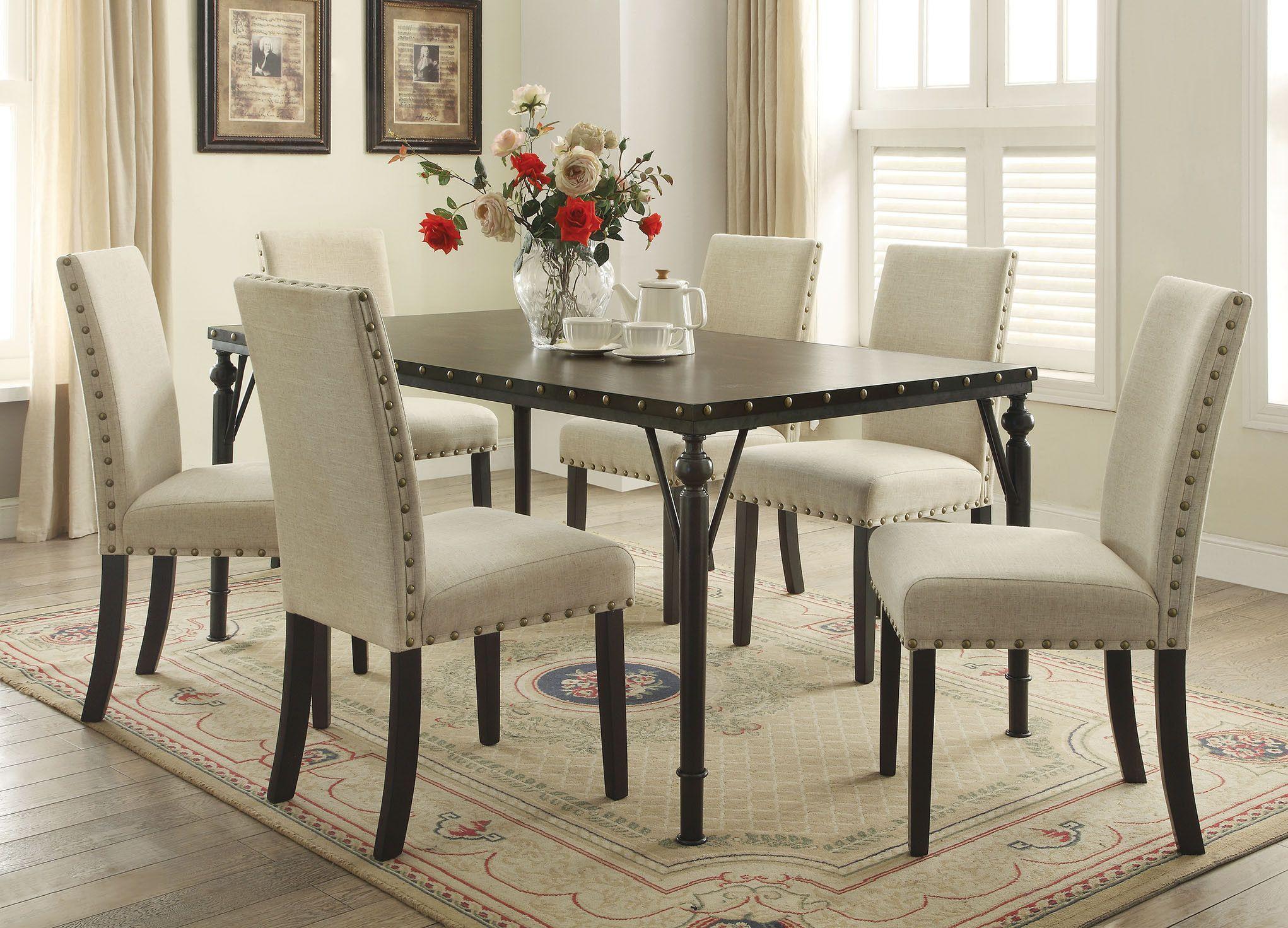 Acme Hadas Dining Table Rectangular Walnut buy