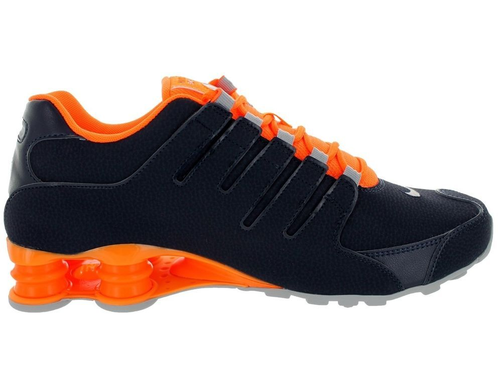 Nike Shox Grey And Orange