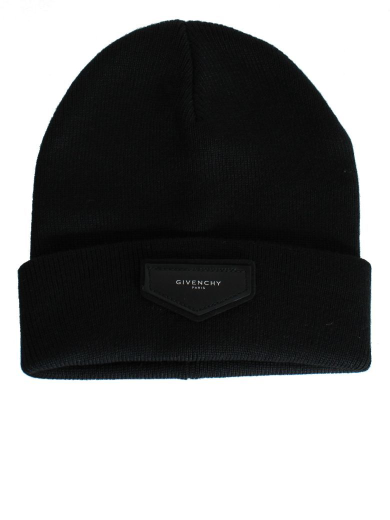 b4065247f GIVENCHY Black Logo Patch Beanie. #givenchy # | Givenchy Men ...
