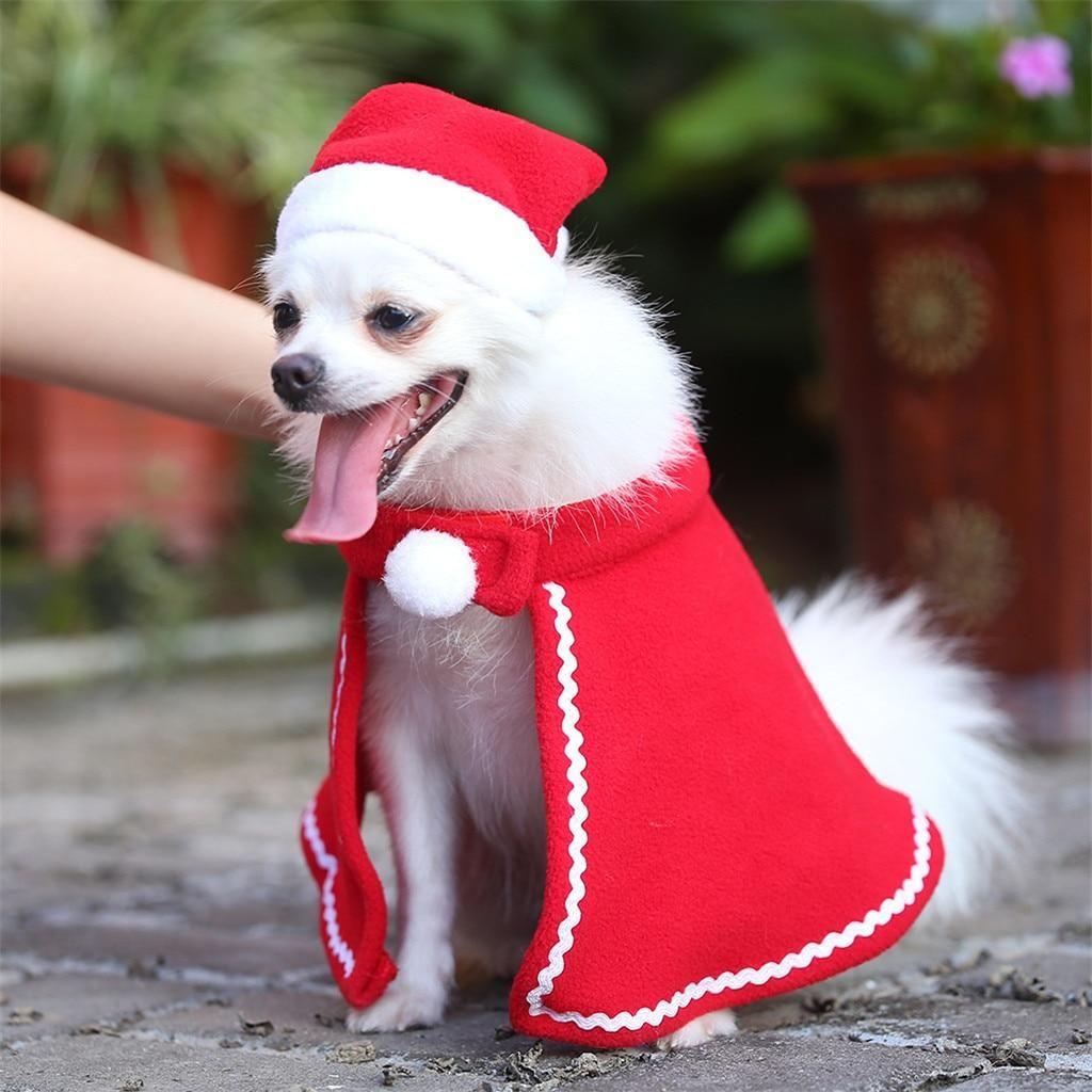 Kerst Jurk voor Hond en Kat voor Winter Warme Muts Kerst