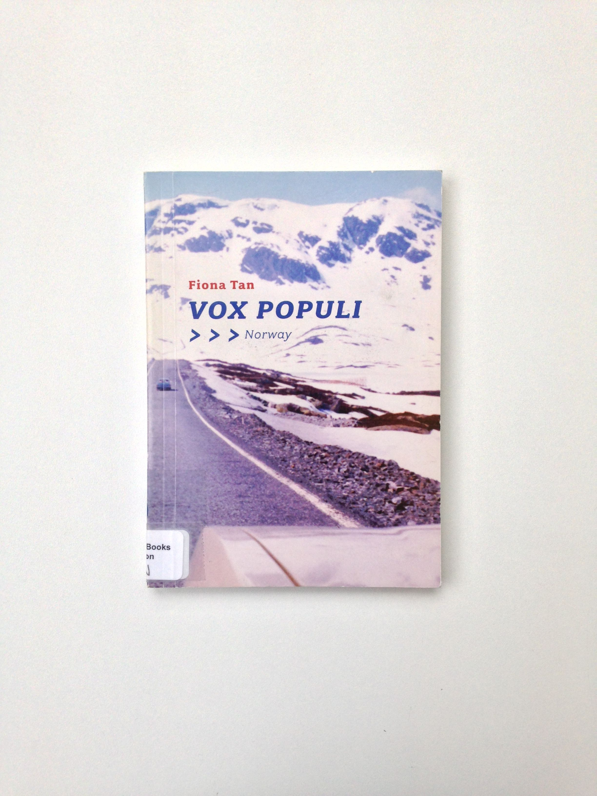 Vox populi Norway, Fiona Tan Glasgow school of art, Vox