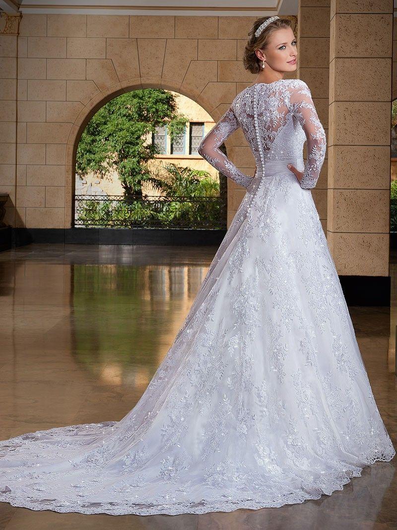 Melhor preço Vestido De Noiva 2019 Casamento Mangas