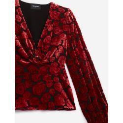 The Kooples - Rockiges Samttop mit Blumenprint - Herren #flowerfabric