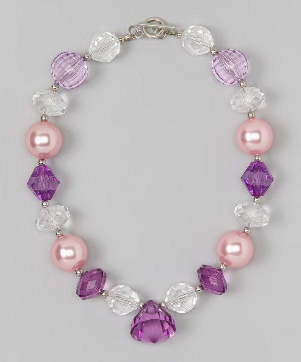 Lavender & Pink Necklace by Diva Daze #zulily #zulilyfinds