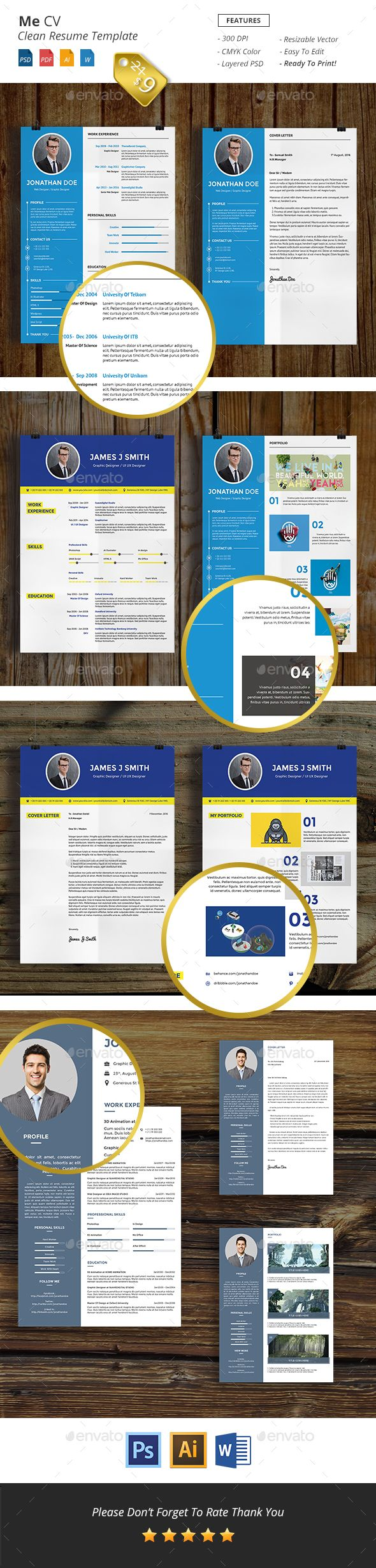 Pin by Cool Design on Word Resume Template Cv resume