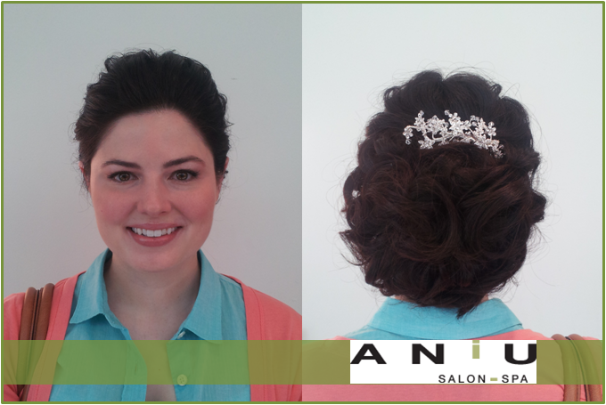 #Bridal #hair #updo by Taylor, #makeup by Zach at ANiU