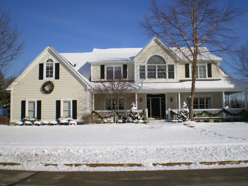 House in edgecomb gray with white trim black shutters for White house with grey trim