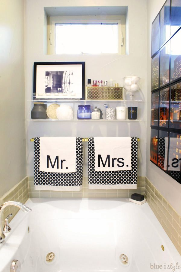 One Room Challenge Graphic Glam Master Bathroom Reveal Pinterest - Bathroom tub makeover
