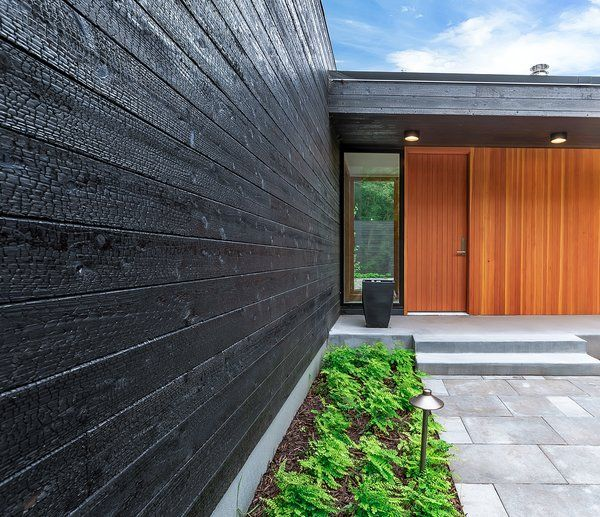 Modern Exterior Wood Siding: Photo 7 Of 10 In A Modern Renovation Connects To A
