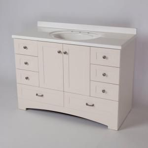 St. Paul 48 in. Manchester Vanity in Vanilla with 49 in ...